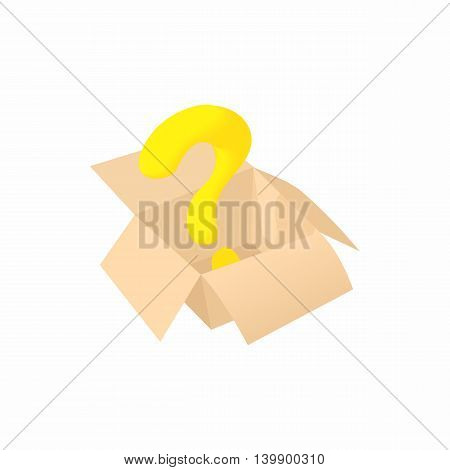 Empty box icon in cartoon style isolated on white background. Storage symbol