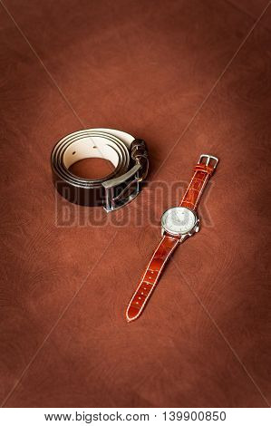 Mens Wristwatches And Belt.