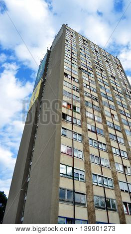 Twenty floor high tenement house building in Miskolc, Hungary
