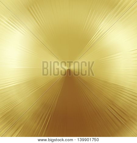 Abstract golden circular metal texture