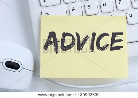 Advice Support Help Assistance Business Concept Problem Solution Office