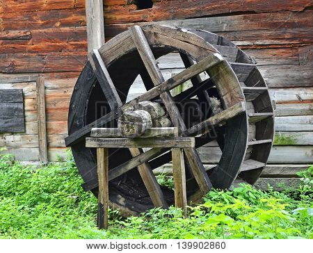 Vintage Water Mill Wheel