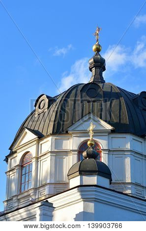 Church of St. Alexander Nevsky in Ust-Izhora town St.Petersburg suburb Russia.