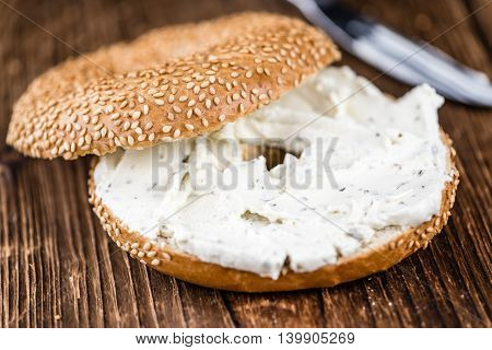 Sesame Bagel (with Cream Cheese)