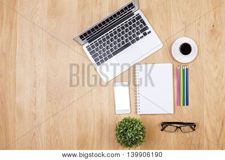 Desk With Office Tools