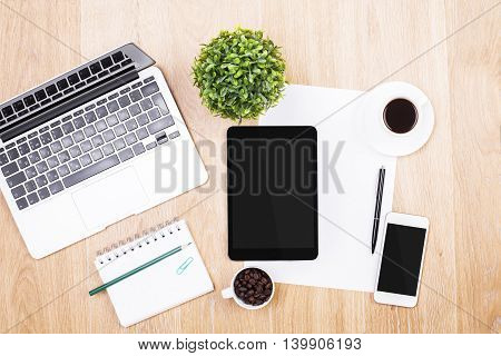 Office Table With Electronic Devices