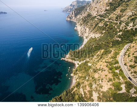 Aerial View of Amalfi Coast, Italy