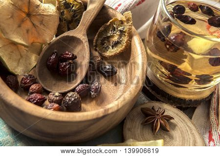 Tea Made From Rose Hips And Dried Fruits