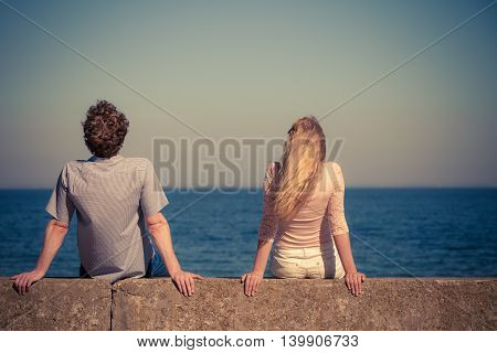 Couple Woman Man Spending Time Together.