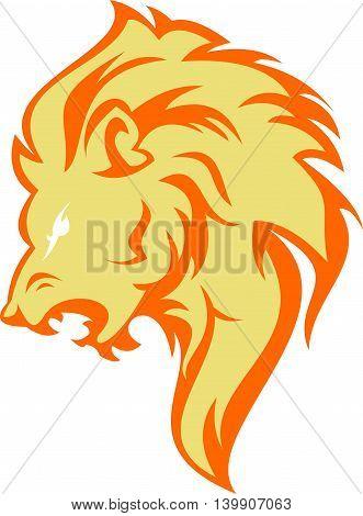 wild head lion animal icon logo illustration