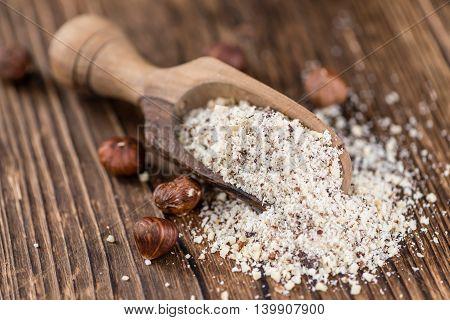 Portion Of Grounded Hazelnuts