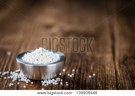 Tapioca On Wooden Background (selective Focus)