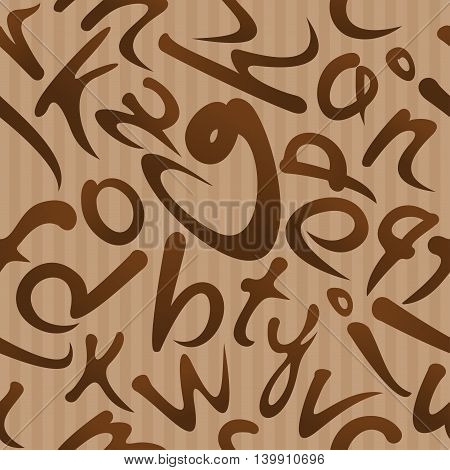 Seamless texture made up of letters. Seamless pattern with alphabet. Vector seamless pattern.