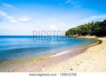 In Sunny Paradise Lagoon Landscape