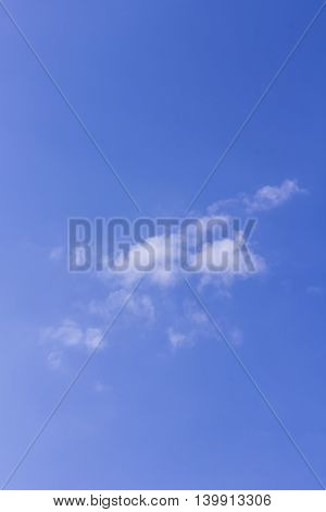 Beauty Blue Sky with Cloud , Background