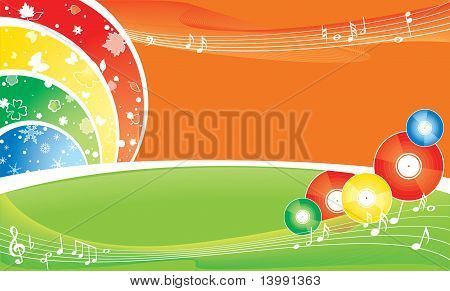 seasonal brightness multicolour background