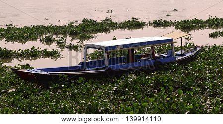 June 20, 2016, ho chi minh city vietnam: boat in saigon river