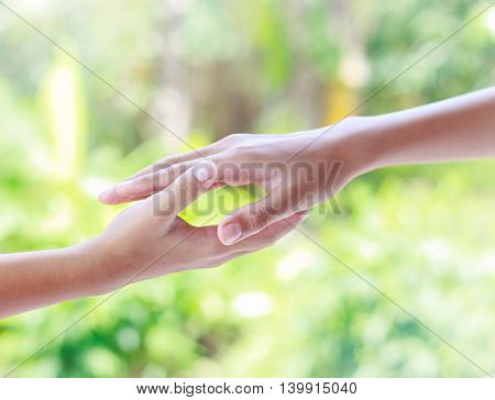 Helping Hands - Teamwork Concept