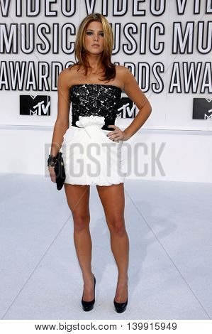 Ashley Greene at the 2010 MTV Video Music Awards held at the Nokia Theatre L.A. Live in Los Angeles, USA on September 12, 2010.