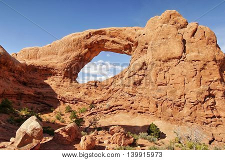 Rock arch in Arches National Park, Utah