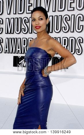 Rosario Dawson at the 2010 MTV Video Music Awards held at the Nokia Theatre L.A. Live in Los Angeles, USA on September 12, 2010.