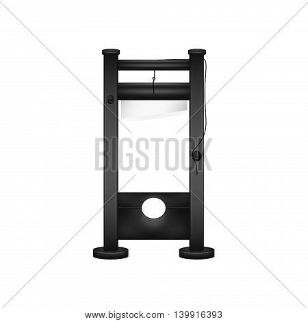 Guillotine in black design on white background