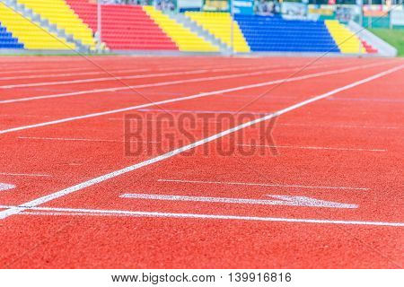 Running track numbers in stadium