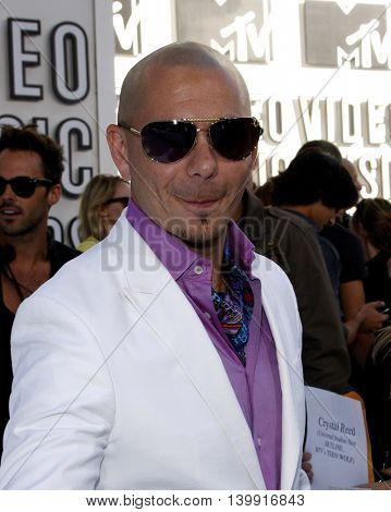 Pitbull at the 2010 MTV Video Music Awards held at the Nokia Theatre L.A. Live in Los Angeles, USA on September 12, 2010.