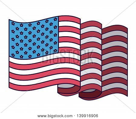united states flag isolated icon design, vector illustration  graphic