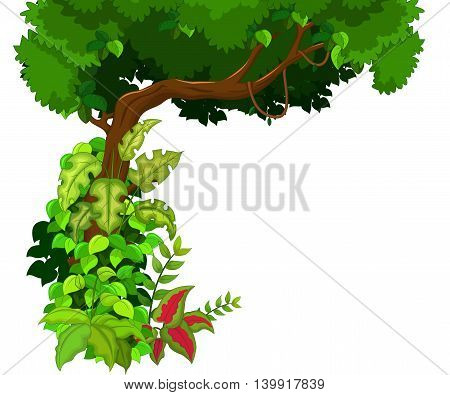 beauty tree background cartoon for you design