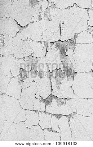 Old Plaster Wall Surface Texture With Cracks