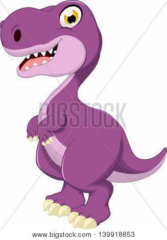 Cute dinosaur cartoon standing for you design