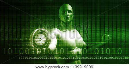 Technology Solutions as a Presentation Background Art 3D Illustration Render