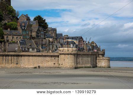 Closeup Of Mont Saint-michel. Normandy. France