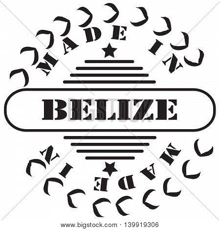 Stamp imprint Made in Belize. Vector illustration.