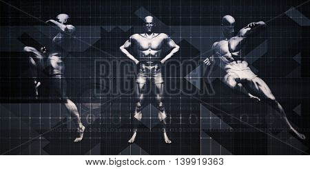 Physical Sports Event and Seminar or Exhibition Background 3D Illustration Render