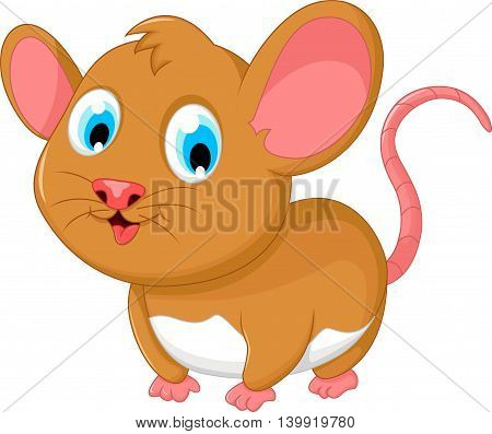 funny fat mouse cartoon posing for you design