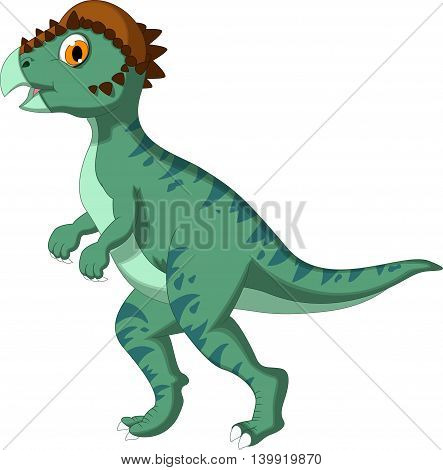 Dinosaur Stegoceras walking cartoon for you design
