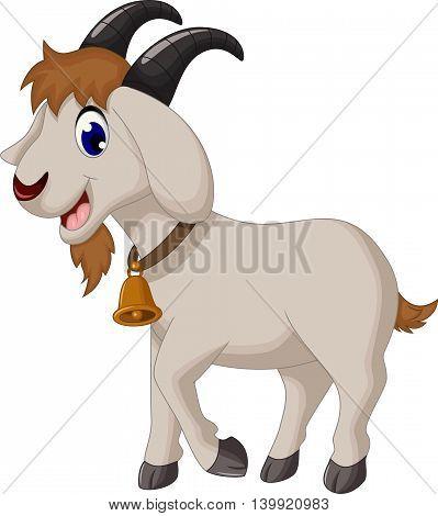 cute cartoon goat posing for you design