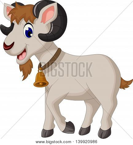 cute cartoon goat smiling for you design
