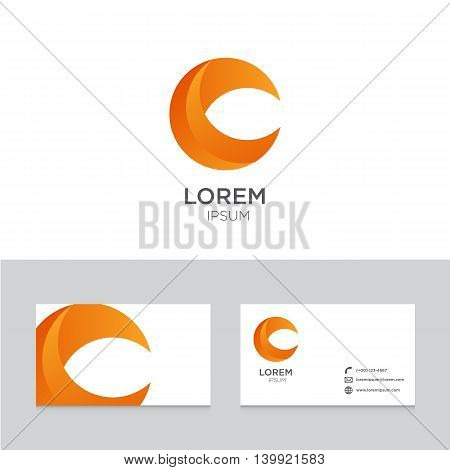 Logo icon design elements business card template vector illustration