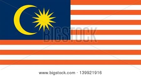 Vector Malaysia flag