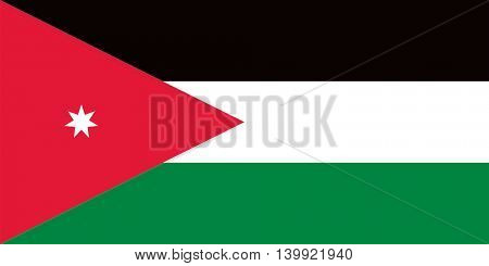 Vector Jordan flag