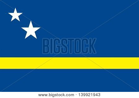Vector Country of Curacao flag