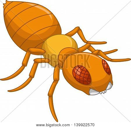 cute Termite posing cartoon for you design