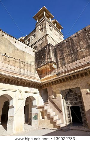 Inside Beautiful Amber Fort In Jaiput