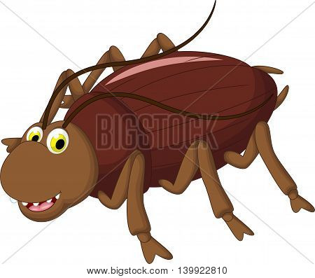 funny cockroach cartoon smiling for you design
