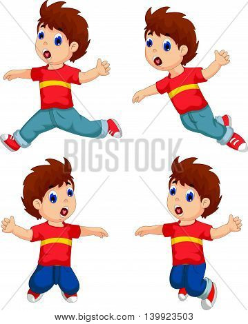 expression of boy cartoon collection for you design