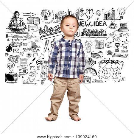 little baby boy looking for idea