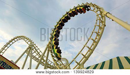 July 11,2016 Rollercoaster ride on boardwalk in Wildwood NJ.